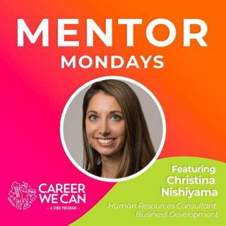 "Are you good at working with lots of different people? Are you good at handling change? Do you like helping people to resolve conflict? Check out our new Career We Can interview that dropped yesterday featuring Human Resources Consultant, Christina Nishiyama. She says that she found her path to her career because ""she loves coming up with solutions."" If you're a young person thinking about your future career check out our Career We Can series to gain viewpoints and insights to a variety of different career fields you may have not considered yet. Our interviews are available for all on YouTube and IGTV."